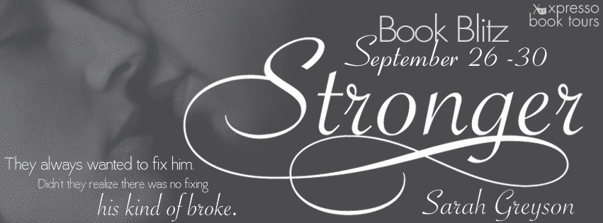 Excerpt & Giveaway: Stronger by Sarah Greyson (Book Blitz)