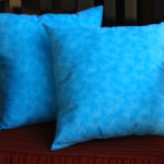 Book & Crafts #5: Blue Birthday Pillows